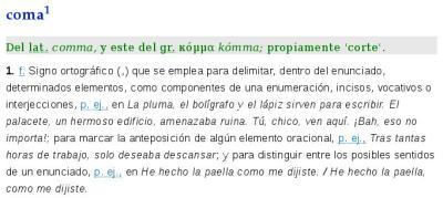 coma RAE   Real Academia Española © Todos los derechos reservados